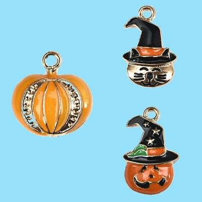 Cute Halloween Diy Crafts (Halloween Jewelry 5Pcs Cute Pumpkin Ghost Pendants For DIY Making)