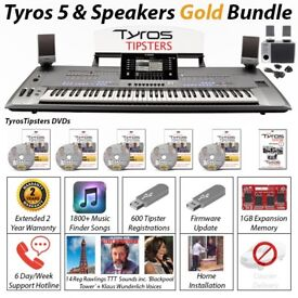Preowned Tyros 5 (61) Note Keyboard Inc MS05 Speakers - BRONZE/ SILVER/GOLD BUNDLE OPTIONS AVALIABLE