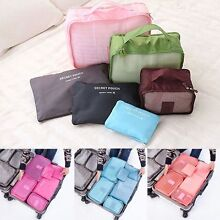 NEW 6Pcs Packing Cube Pouch Clothes Storage Bags Travel Organiser Wembley Cambridge Area Preview