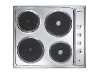 Brand New Smeg SE435X-1 Cucina 60cm Wide Four Zone Sealed Plate Hob - Stainless Steel
