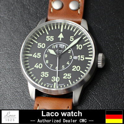 LACO Zurich 42 Aviator watch QUARTZ 861806  New Made in GERMANY Free shipping for sale  Shipping to Canada