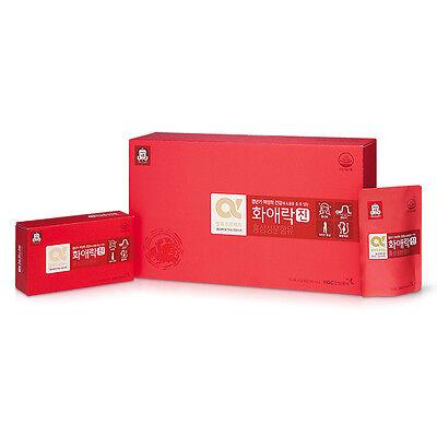 CHEONGKWANJANG HWAAEROK JIN Red Ginseng + Deer Vitality For Women 70ml 30 Packs