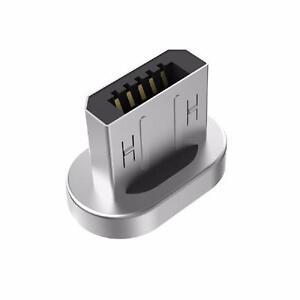 WSKEN Original Mini 1 and Mini 2 - MicroUSB Magnetic Metal Plug Connector for Androids - Silver