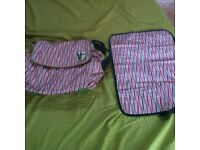 Baby changing bag with changing mat good as new going cheap