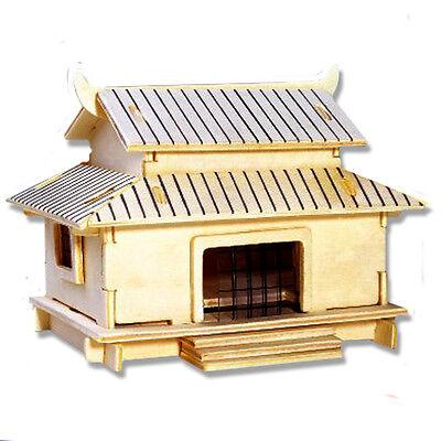 3-D Wooden Puzzle - Small Wakoutaku Building  - Gift Item