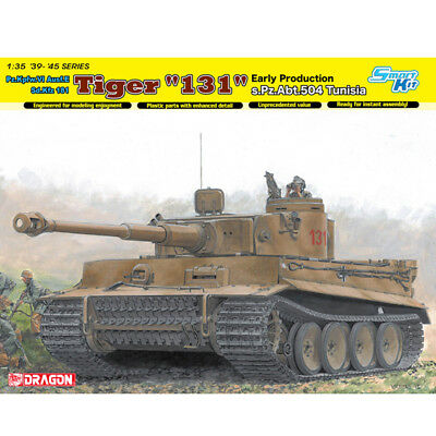 "Dragon #6820 1/35 Tiger I ""131"" s.Pz.Abt.504 Tunisia (Smart Kit), used for sale  Shipping to United States"