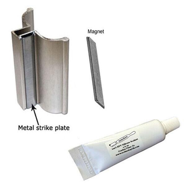 "3"" Brushed Nickel Frameless Shower Door Handle with Magnet/S"