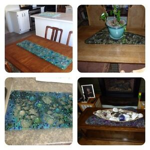 Beautiful Glass Trivets & Serving Platters