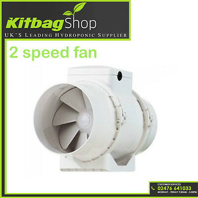 """4"""" Hydroponic Grow Room Fan Inline Tent Extractor For Duct Carbon Filter UK PLUG"""