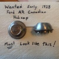 Early 1928 Ford Model AR hubcaps