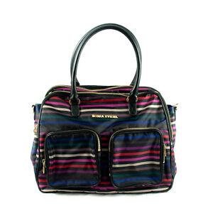 Authentic Sonia Rykiel Stripe Line Handle Bag