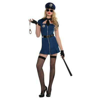 Ladies Bad Cop Fancy Dress Costume Police Womens Outfit Size 10-12