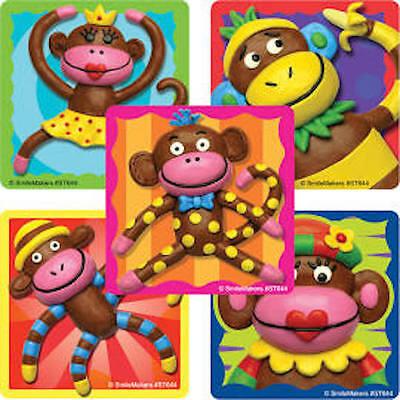 25 Sock Monkey  Stickers Party Favor Teacher Supply - Sock Monkey Party Supplies