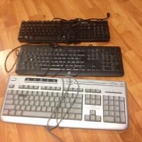 LOT 3x Computer Keyboards