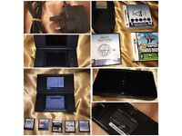 Nintendo DS Lite with case & 6 top games