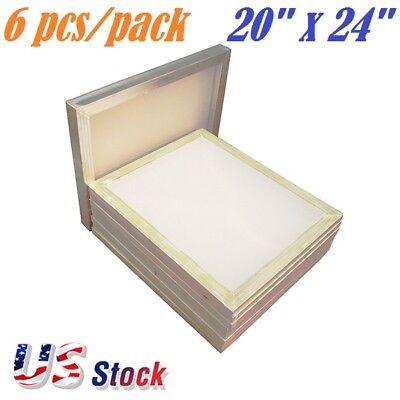 6 Pack Aluminum Frame Silk Screen Printing Screens 20x 24 White 160 Mesh Count