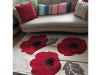 Lovely new, unused poppy rug. 6ft x 4ft. Soft, thick pile made from polyproplene and acrylic.
