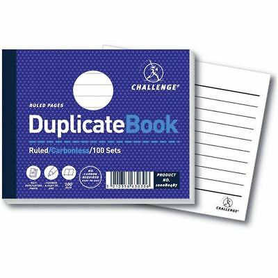 Challenge Ruled Carbonless Duplicate Book 100 Sets 105x130mm  [JDH63030]