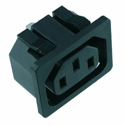 C13 Snap-Fit IEC Chassis Outlet Connector Snap Fit Connector