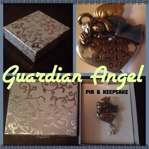 Guardian Angel pin and keepsake
