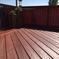 Deck stained