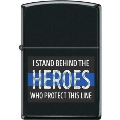 Zippo Lighter - I Stand Behind the Heroes Black Matte - 854445