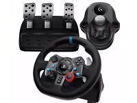 Logitech G29 Steering Wheel, Pedals & Shifter. New & Sealed.
