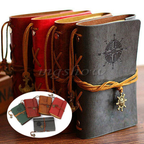 Vintage Classic Retro Leather Journal Travel Notepad Notebook Blank Diary Memo