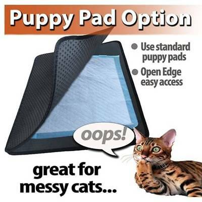 - Cat Litter Mat  Double Layer Pet capture Mats Waterproof Bottom Layer BLACK