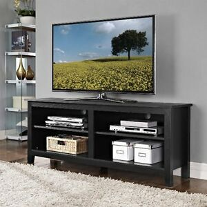 Brand New In Box Walker Edison 58 Inch Wide Wood TV Stand - Blac