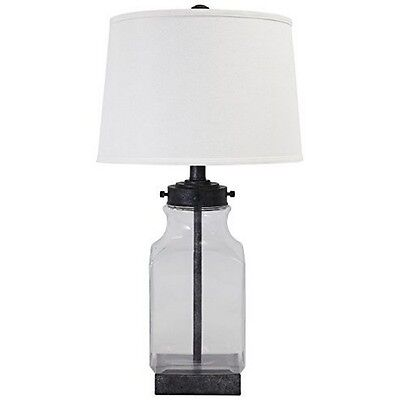 Signature Design by Ashley Sharolyn Glass Table Lamp Transparent/Silver Finish ()