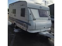 Hobby. Prestige. Caravan 17 ft 6ins. Fixed bed