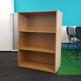 Mid Height Oak Bookcase