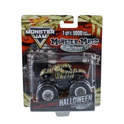 Halloween Monster Hands (Brand New 2018 Hot Wheels Monster Jam Halloween Monster Mutt Mummy - In)