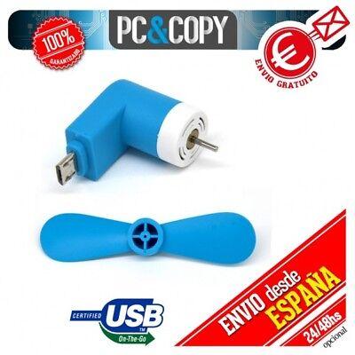Mini fan ventilador portatil pequeño para android USB Micro OTG móvil flexible