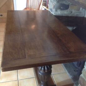 Beautiful antique solid oak refectory table