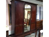 Lovely Large Victorian mirrored triple wardrobe