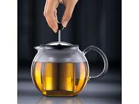 Bodum Assam Tea Maker with Stainless Steel Filter 1.0L, Tea pot, BPA FREE, Shiny