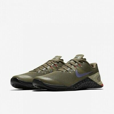 NIKE METCON 4 CrossFit Weightlifting AH7453 342 Trainers Shoes UK 9.5 Olive