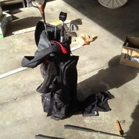 Golf Bag, Cart and Balls for sale