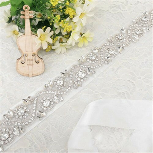 Bridal Rhinestone Belt Sash Crystal Waist Ribbon Belt Wedding Dress Decoration