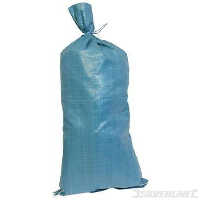 New 10 Woven SandBags - Polypropylene Strong Empty Sand bags Sacks Flood Defence