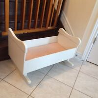 Solid wood doll cradle