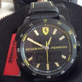 Ferrari duel time limited edition sports watch number 0113 new with tags and booklets