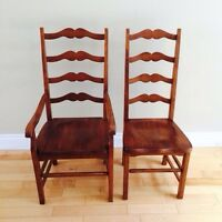 6 Maple Antique Replica Dining Chairs