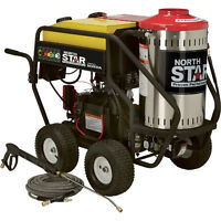 HOT WATER AND STEAM HONDA POWERED PRESSURE WASHER WITH CAT PUMP
