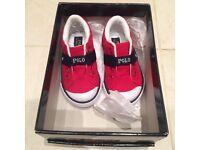 NEW Ralph Lauren sneakers toddler size 4 1/2 uk