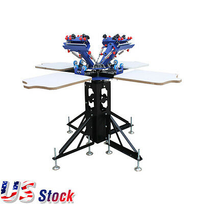 Silk Screen Printing 4 Color Printer Press Shirt Micro-adjust Rotatable Machine