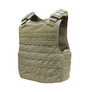 Tactical-DFPC-MOLLE-PALS-Defender-Body-Armour-Plate-Carrier-Vest-Side-Armour-Tan
