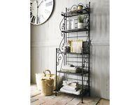 Beautiful Wrought Iron 'Manon' Shelf Unit